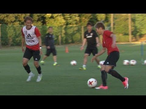 ◆日本代表◆本田vs長友、乾vs香川、宇佐美vs原口のデュエル練習動画が話題に!