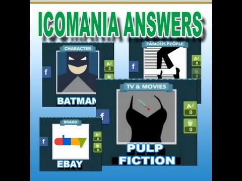 ICOMANIA ANSWERS LEVEL 1, 2, 3, 4 and 5