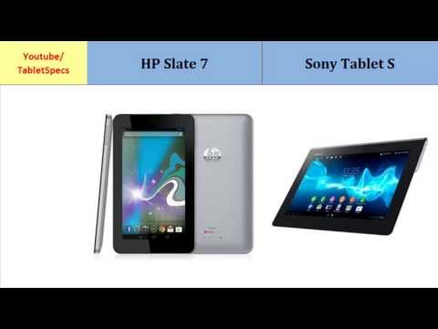 HP Slate 7 vs Sony Tablet S, full specifications
