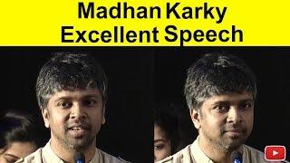 Madhan Karky Excllent Speech   Thadam Press Meet