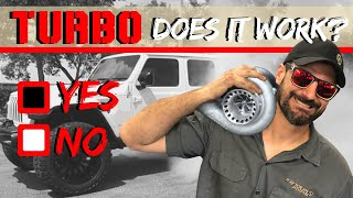 TURBO on a Jeep Gladiator, You won't believe the result