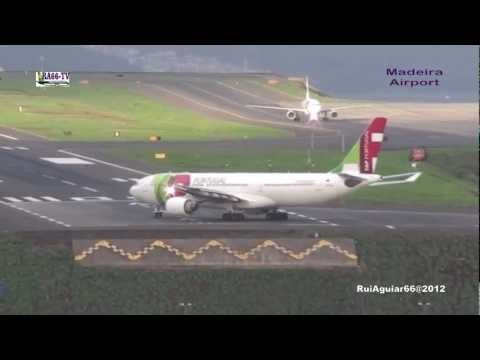 Aterragens Descolagens Aeroporto da Madeira Tap Portugal Airbus A330-200 Transavia
