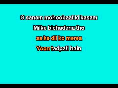 o sanam karaoke mix by lucky ali