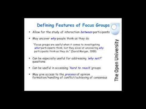 Barbour, Rose: Focus Groups