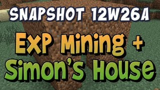 Mining Experience & Simon's House - Snapshot 12w26a