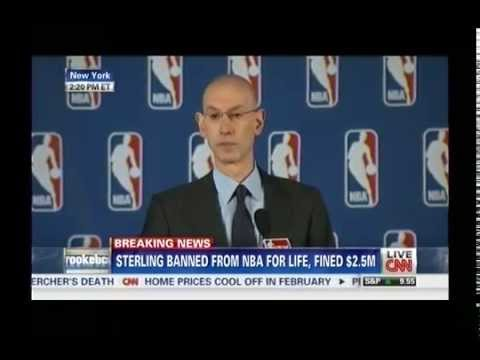 NBA COMMISSIONER ADAM SILVER'S ANNOUNCEMENT ON DONALD STERLING- 4-29-2014