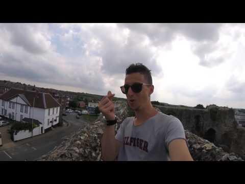 Climbing atop Canterbury castle