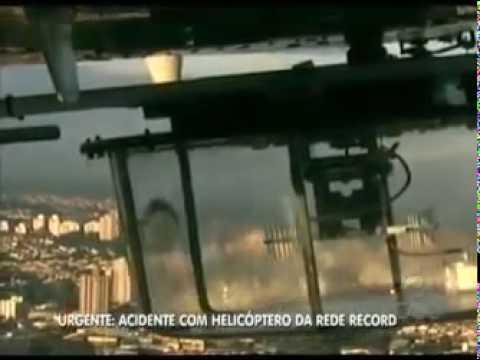 Helicóptero da TV Record cai em São Paulo CAMERA HELICOPTERO da RECORD