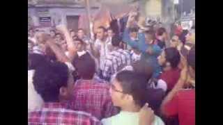 #رسالة وقفة شباب المحلة ضد الإنقلاب عقب صلاة العيد