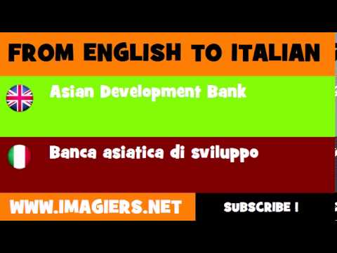 How to say Asian Development Bank in Italian