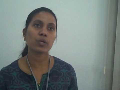 Mariya John Fernandes Wateraid speaks on menstrual hygiene (Hindi)