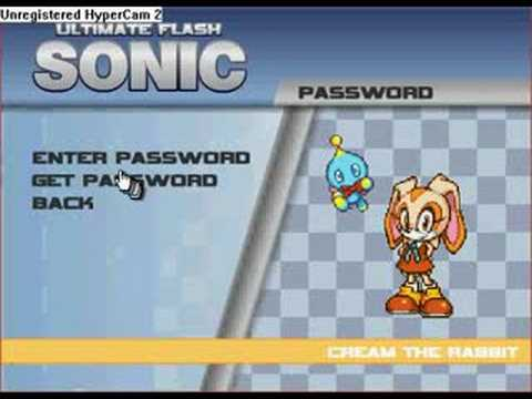 Ultimate Flash Sonic Cheat Codes GET SHADOW & AMY