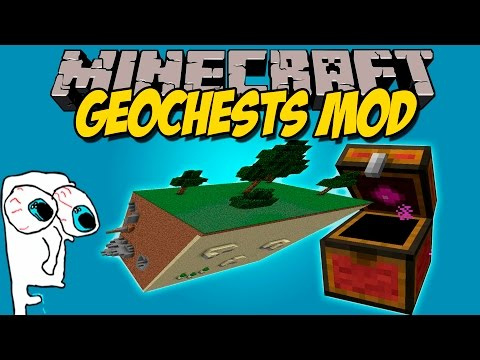 GEOCHEST MOD - Cofres que absorben bloques! - Minecraft mod 1.7.10. 1.7.2 y 1.6.4 Review ESPAÑOL
