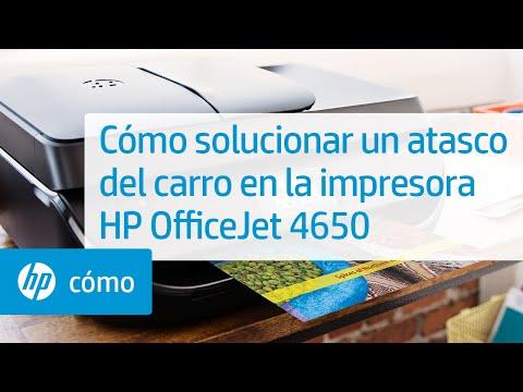 Cómo solucionar un atasco del carro en la impresora HP OfficeJet 4650
