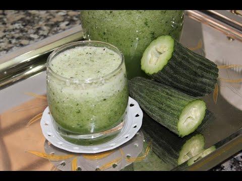 Jus de concombre ------ عصير القثاء (الفقوس) و الزعتر المنعش thumbnail