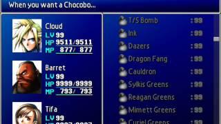 Final Fantasy VII Perfect Game File