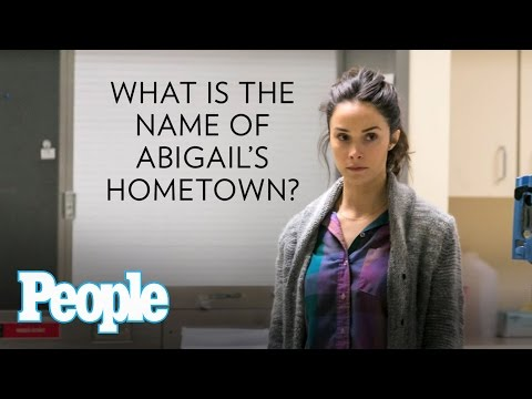 Rectify's Aden Young and Abigail Spencer Get Silly - PEOPLE
