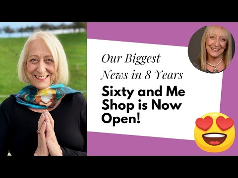 Our Biggest News in 8 Years: Sixty and Me Shop is Now Open!