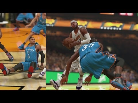 NBA 2K14 PS4 My Career Playoffs CFG5 Durant and Westbrook Fall
