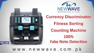 2 Pocket Note Sorting & Cash Counting Machine with 100% Fake Note Detection NW-1100 in Pakistan