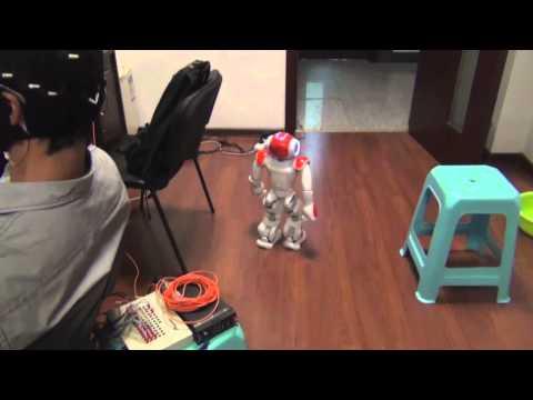 Navigating NAO Robot through a Door with Mind