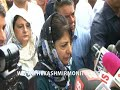 If Delhi tries to break PDP, outcome will be dangerous, says Mehbooba