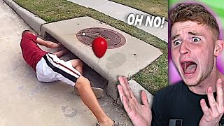 Clown PULLS KID INTO THE SEWER..
