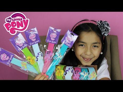 My Little Pony Slap Bands MLP Slap Bracelets  Apple Jack Celestia Rarity Twilight Sparkle Fluttershy