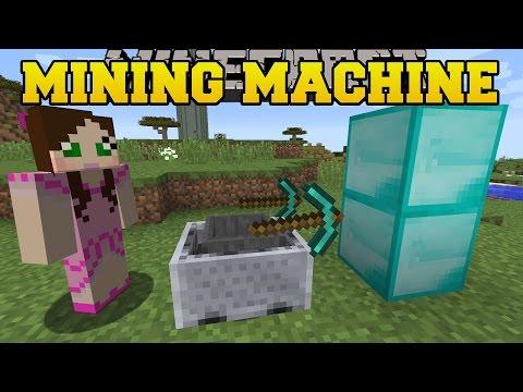 Minecraft: MINING MACHINE CHALLENGE! (ORE & BLOCK GRABBING MACHINE) Custom Command