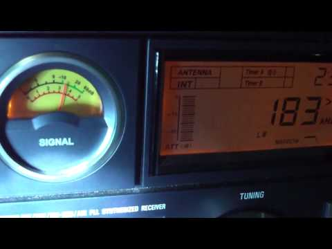 183 khz Radio Europe 1 , France ,  Transmitter city Felsberg , Germany