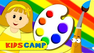 Colors Song | Nursery Rhymes | Learn Colors with Elly & Eva | Original Song By Kidscamp