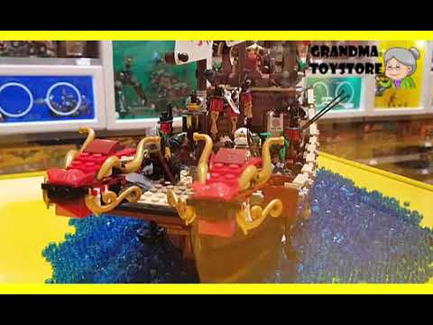Watching video Unboxing TOYS Review/Demos - Lego Ninjago warship battle dragon ship