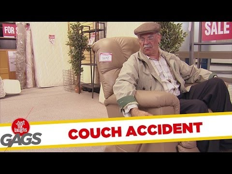 Old Man Couch Accident Prank