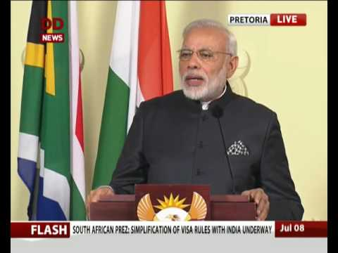 PM in South Africa: Joint Press Statement of PM Modi and President Zuma