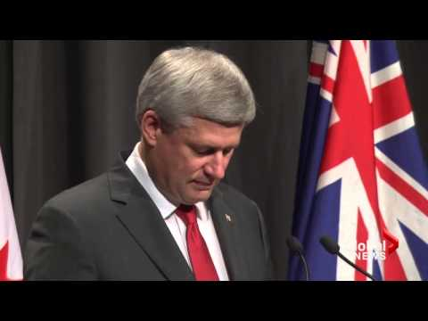 Harper arrives in Australia for G20 Summit