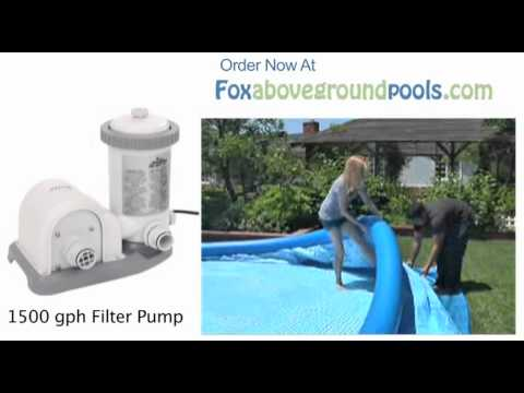 Intex 1500 gph Pool Filter Pump 56635E Set Up Video Instructions