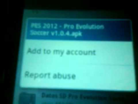Downloading pes 2012 on galaxy mini plus gt-S5570I