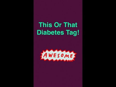 This Or That Diabetes Tag | Type One With Laina