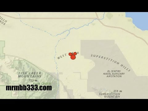 Quake swarm in So Cal near San Andreas - 5.7M downgraded to 3.3M during video!