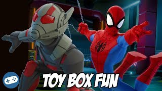 Spiderman and Ant Man Disney Infinity 3.0 Toy Box Fun Gameplay