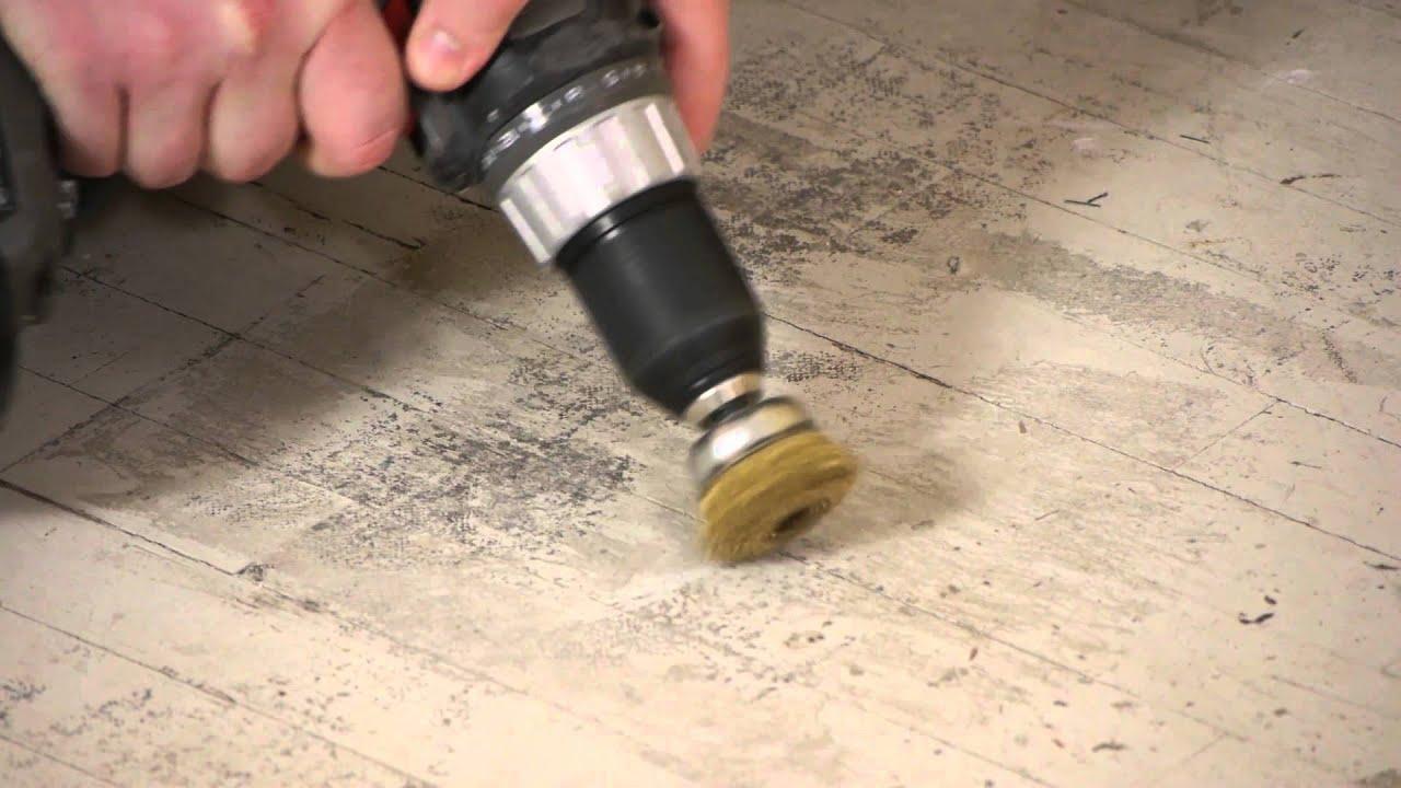 Remove floor tile glue
