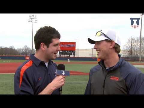 Illinois Baseball Volunteer Assistant Coach Kyle Hudson Interview 4/2/15