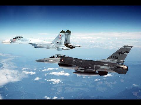 F-16 против Су-27!!! ВВС США или ВВС России будут владеть небом???