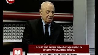 Günlük | Devlet Eski Bakanı İ. Yaşar Dedelek