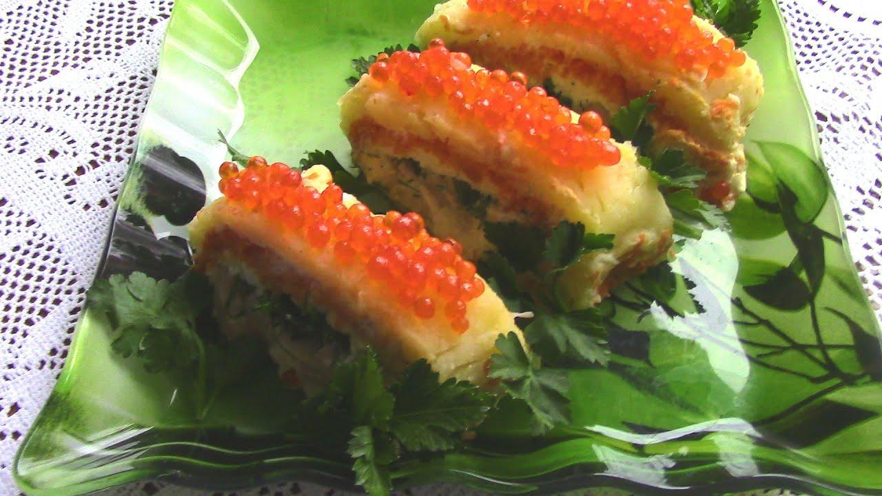 Рецепт семги по царски с икрой