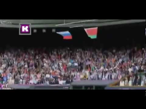 لحظة سقوط علم امريكي اولمبياد لندن