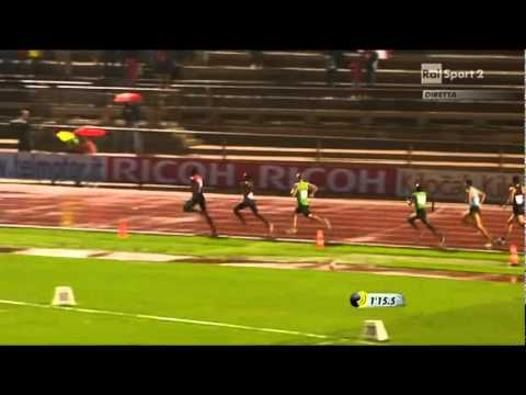 Mohammed Aman Ethiopia Wins 800 meter race in Milan - Rudisha 2nd