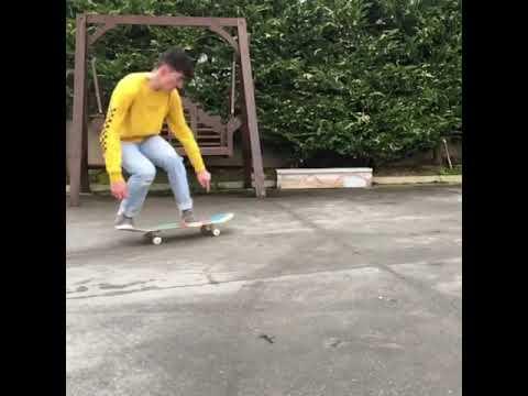 Spinny flippy new one on flat @_jamiegriffin 🔥 | Shralpin Skateboarding