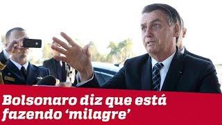 Bolsonaro afirma que país está sem dinheiro: 'estamos fazendo milagre'