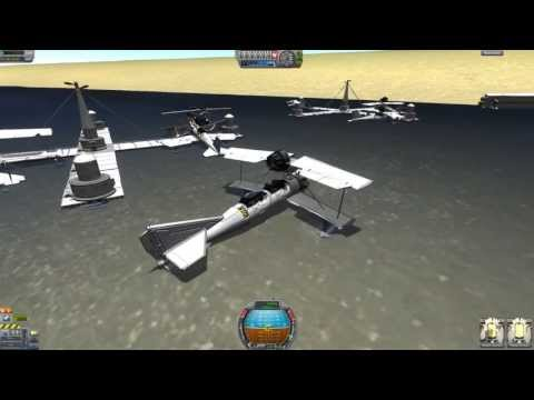 KSP Seaplane Rescue & Refuel Mission (nomods)